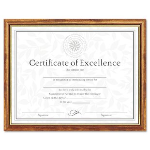 6895ebec4b5 Two-Tone Document Diploma Picture Frame