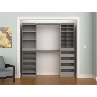"Modular Storage 68.76"" W - 90.76"" W Closet System ClosetMaid"