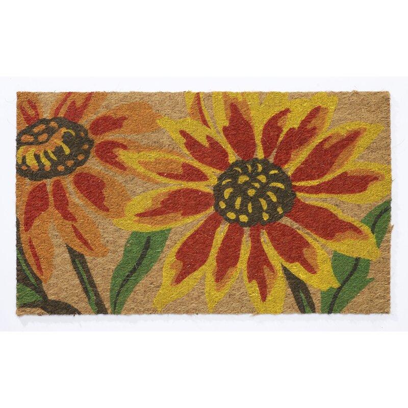 Hflt Flatweave Blanket Flower 30 In X 18 In Non Slip Outdoor Door Mat Reviews Wayfair