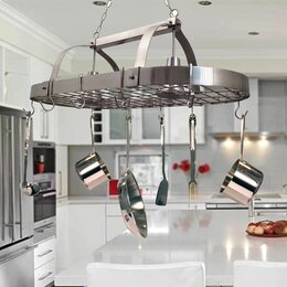 lighted hanging pot racks - Ceiling Lights In Kitchen