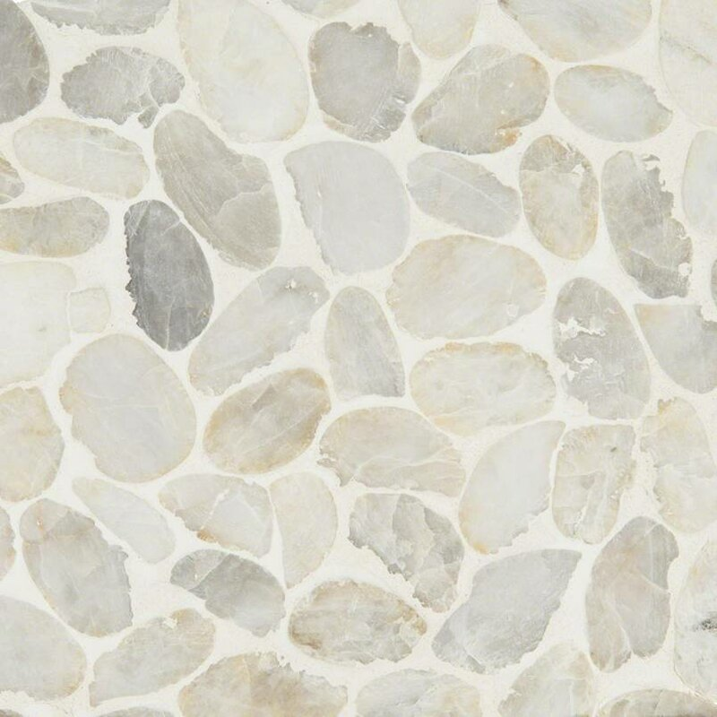 Msi Dorado Pebble Tumbled Random Sized Marble Pebbles