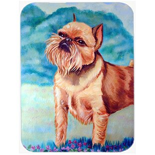 Brussels Griffon Rectangle Tempered Glass Cutting Board By East Urban Home