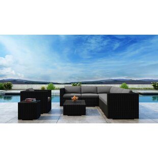 Everly Quinn Glendale 9 Piece Sectional Set with Sunbrella Cushion