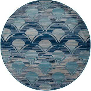 Ceasar Waves Gray Indoor/Outdoor Area Rug