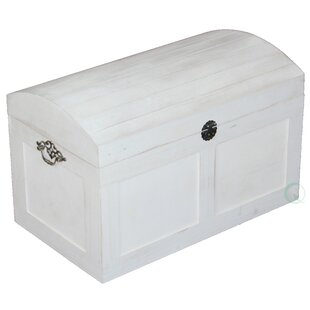 Quickway Imports White Barn Wood Trunk