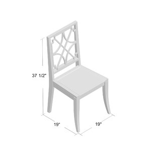 Lydia Solid Wood Dining Chair (Set of 2) Gabby