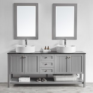 Nadler 72 Double Bathroom Vanity Set with Mirror