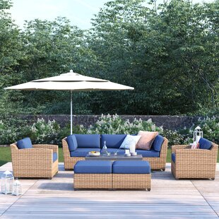 Waterbury 8 Piece Rattan Sofa Seating Group with Cushions