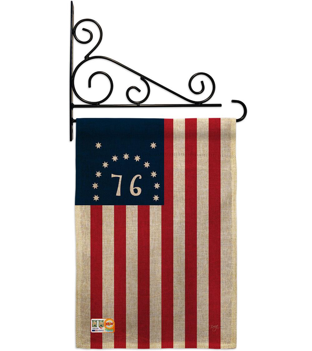Breeze Decor Bennington 2 Sided Polyester 19 X 13 In Flag Set Wayfair Ca