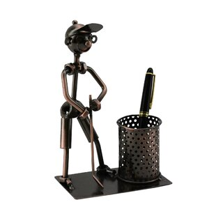 Wine Bodies Metal Golfer Pen Holder
