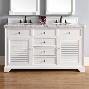 Osmond 60 Double Cottage White Bathroom Vanity Set by Greyleigh