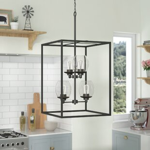 Gracie Oaks Burwood Indoor 4-Light Square/Rectangle Chandelier
