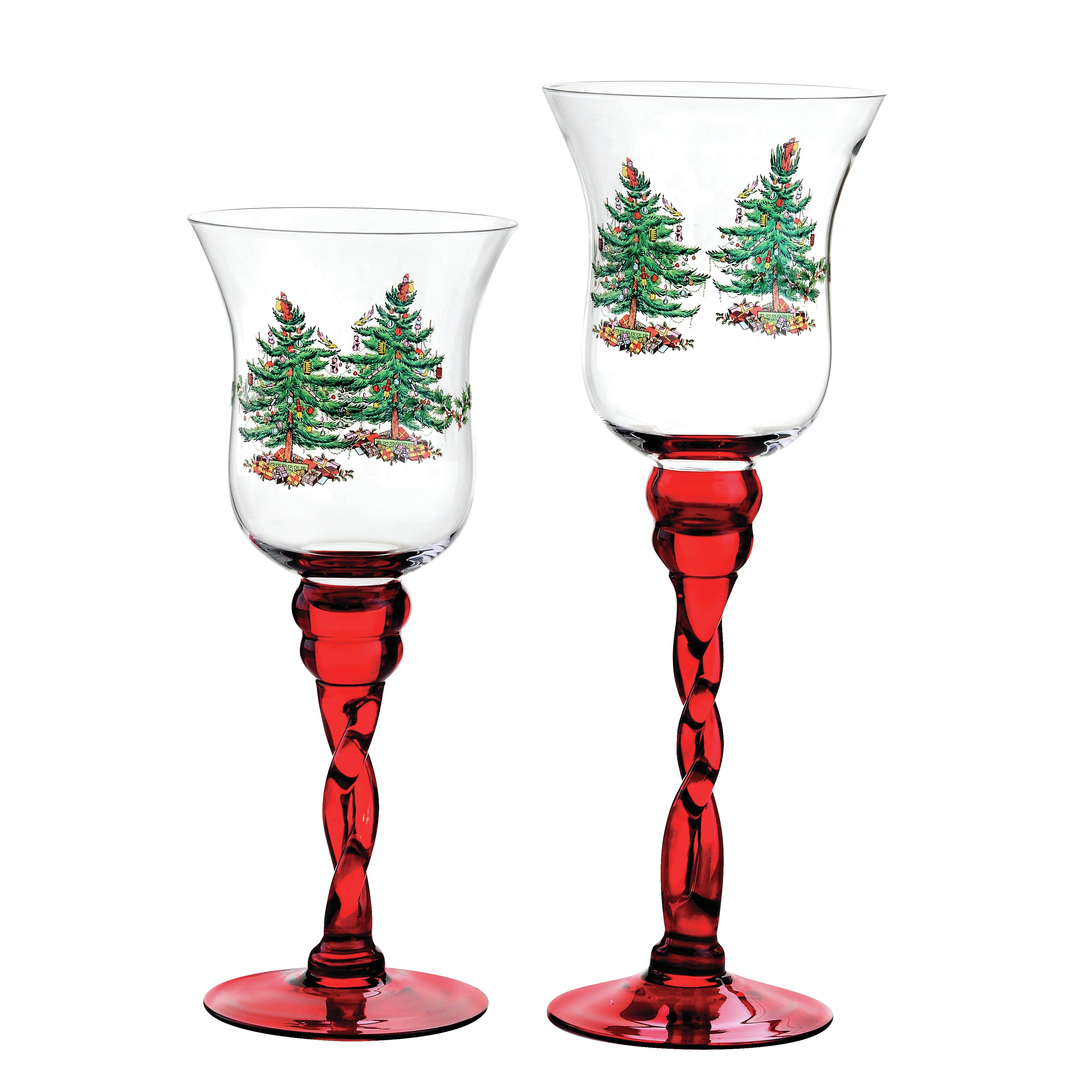 Spode christmas tree glass fluted footed candle holders reviews spode christmas tree glass fluted footed candle holders reviews wayfair reviewsmspy