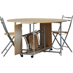 Annis Folding Dining Set with 4 Chairs  sc 1 st  Wayfair & Folding Table And Chair Sets | Wayfair.co.uk