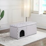 Rademacher Upholstered Flip top Storage Bench by Tucker Murphy™ Pet