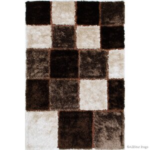 Hand-Tufted Brown/Ivory Area Rug