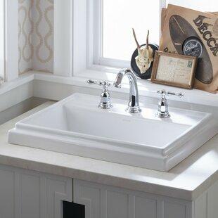Tresham® Ceramic Rectangular Drop-In Bathroom Sink with Overflow By Kohler