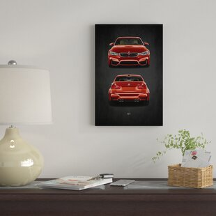 'BMW M3' Graphic Art Print on Canvas By East Urban Home