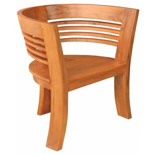 Chic Teak Half Moon Teak Dining Arm Chair