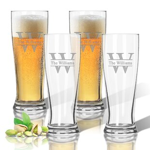 Personalized Tritan 14 oz. Pilsner Glass (Set of 4)