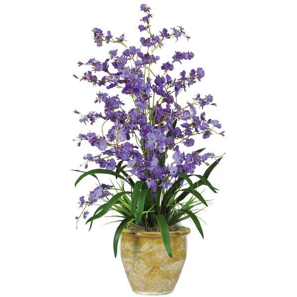 Nearly Natural Triple Dancing Lady Silk Orchid Flower In Purple Reviews Wayfair