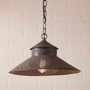 Gracie Oaks Wesleyan Chisel 1-Light Cone ..