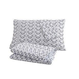 clairebella Fractal 100% Cotton Sheet Set