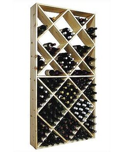Country Pine 208 Bottle Floor Wine Rack b..