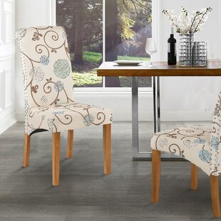 Mellery Upholstered Parsons Chair in Cream Set of 6 by Red Barrel Studio