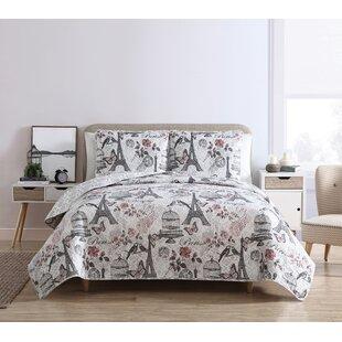 wensley paris reversible quilt set - Paris Bedding