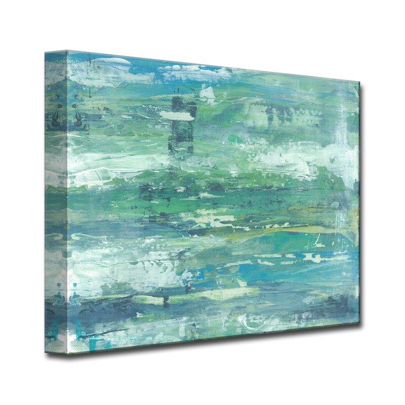brayden studio seafoam coast acrylic painting print on canvas