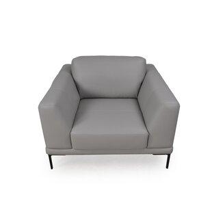 Orren Ellis Joachim Top Grain Contemporary Armchair