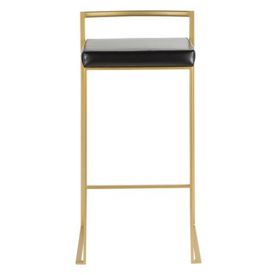 Fabulous Wade Logan Gary Bar Counter Stool Color Gold Upholstery Gamerscity Chair Design For Home Gamerscityorg