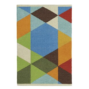 Make a Point Handmade Green/Blue/Red Indoor/Outdoor Area Rug