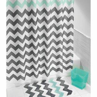Inexpensive Chevron Shower Curtain ByInterDesign