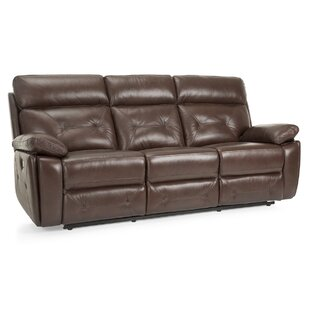 Krafton Leather Reclining Sofa by Red Barrel Studio
