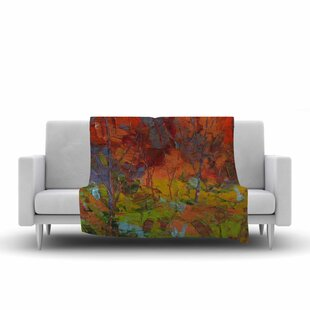 Best Reviews Jeff Ferst Fall Colours Painting Fleece Blanket By East Urban Home