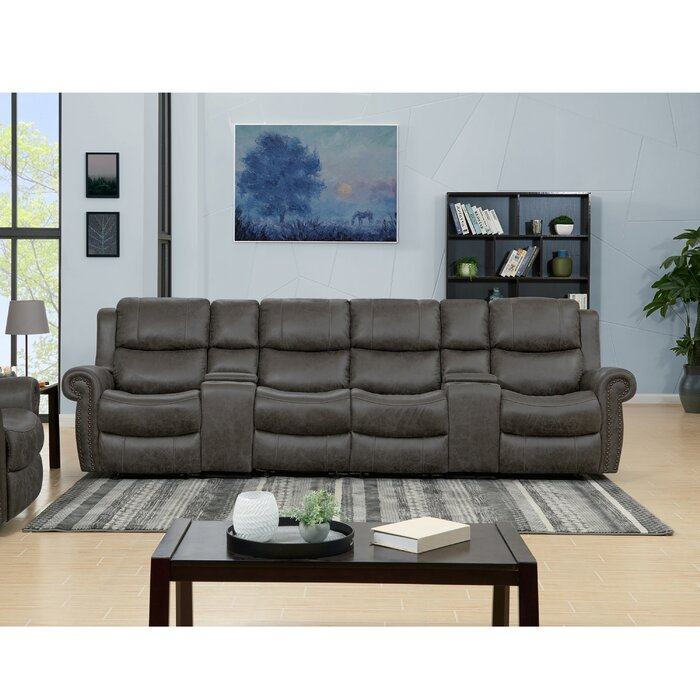 Home Theater Sofa Row of 4
