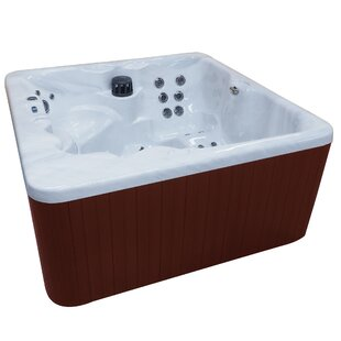 Malibu Lounger 5-Person 62-Jet Hot Tub With Waterfall And LED Light By QCA Spas