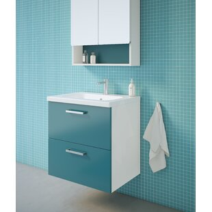 Barrister 61mm Wall Mount Single Vanity Unit By Ebern Designs