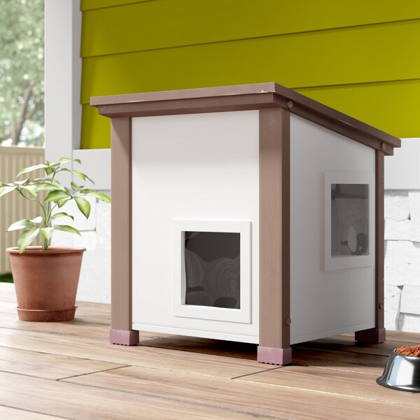 Elevated Outdoor feral cat house. 22 H x 20 W x 20 L inches