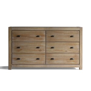 Montauk 6 Drawer Double Dresser by Grain Wood Furniture