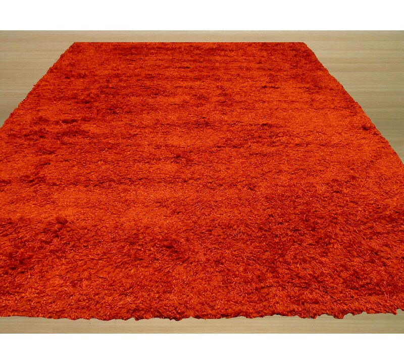 The Conestoga Trading Co Handmade Shag Orange Area Rug Wayfair