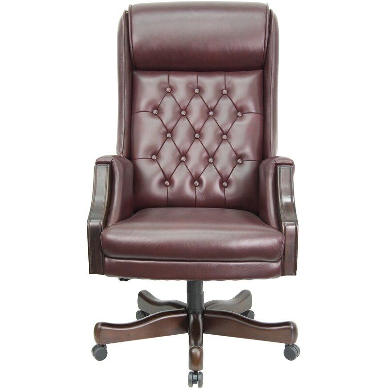 flash furniture leather executive chair & reviews | wayfair