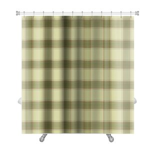 Picnic Plaid in Soft Tones of with Terracotta Accents Premium Single Shower Curtain