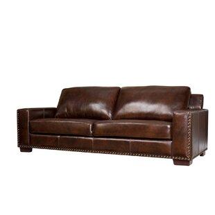 Lemon Grove Leather Sofa by Trent Austin Design