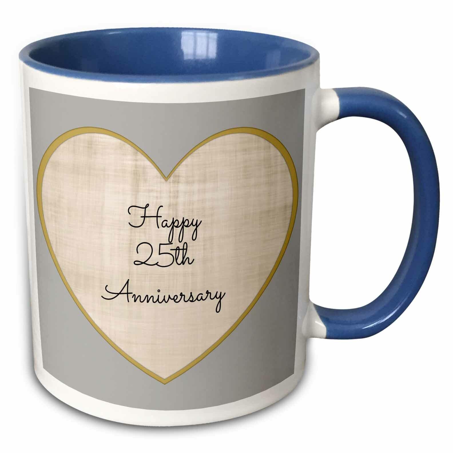 Symple Stuff Mullings Happy 50th Anniversary With Heart Background Coffee Mug Wayfair