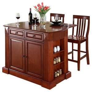 Byron 3 Piece Kitchen Island Set by Beachcrest Home