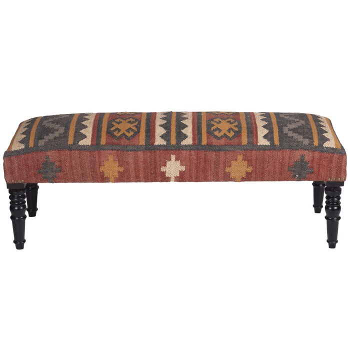 Phenomenal Lilyanna Handmade Indo Kilim Wooden Bench Frankydiablos Diy Chair Ideas Frankydiabloscom