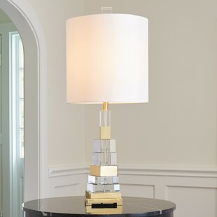 Twisted Crystal 38.25 Table Lamp